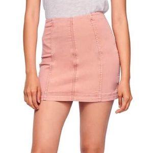 Free People Light Pink Mini Skirt